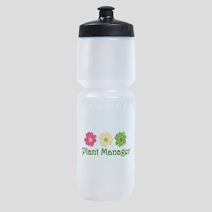 Plant Manager Sports Bottle