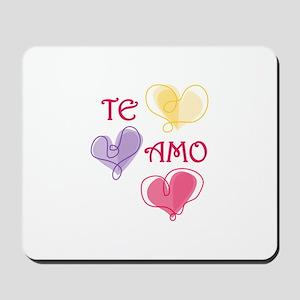 Te Amo Mousepad