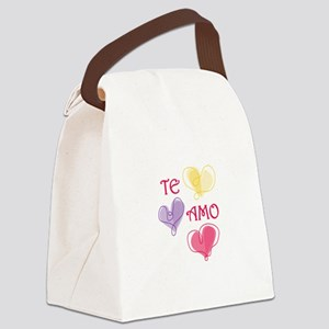 Te Amo Canvas Lunch Bag
