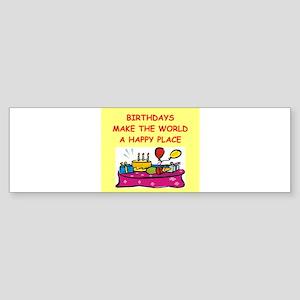 BIRTHDAY Sticker (Bumper)