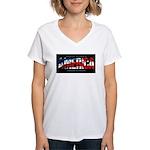 America-B Women's V-Neck T-Shirt