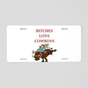 cowboy Aluminum License Plate