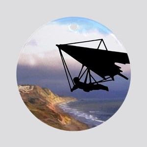 Hang Gliding Over the California Ornament (Round)