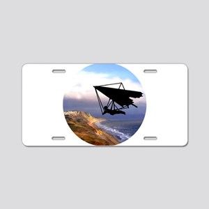Hang Gliding Over the Calif Aluminum License Plate