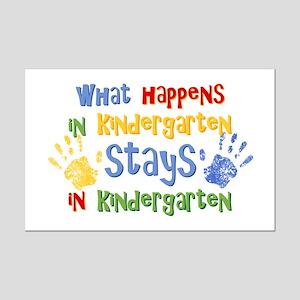 Stays In Kindergarten Mini Poster Print