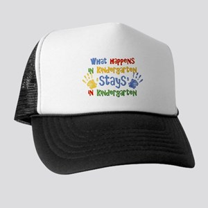 Stays In Kindergarten Trucker Hat
