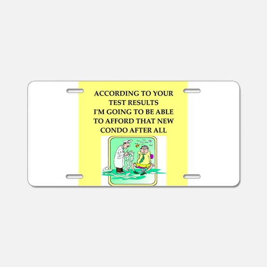 icu doctor joke gift apparel Aluminum License Plat