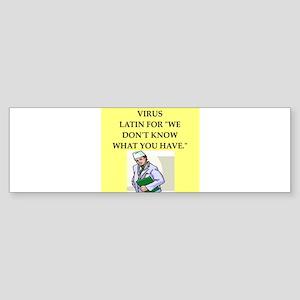 doctor joke Sticker (Bumper)