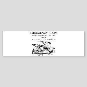 hospital emergency room gifts apparel Sticker (Bum