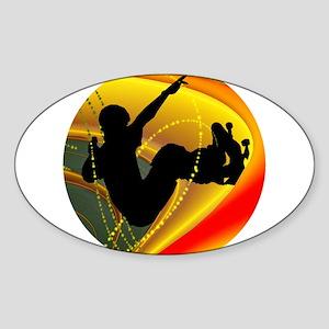 Skateboarding Silhouette in the Bowl. Sticker