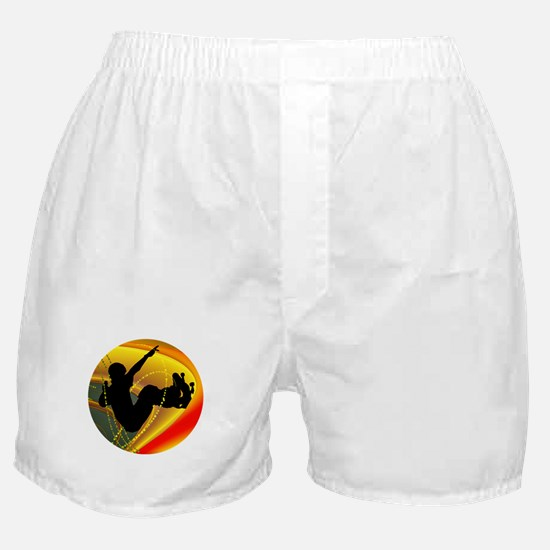 Skateboarding Silhouette in the Bowl. Boxer Shorts
