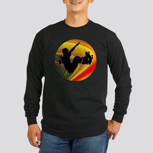 Skateboarding Silhouette in th Long Sleeve T-Shirt