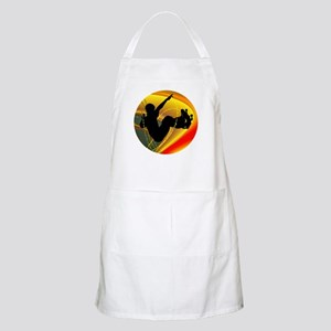 Skateboarding Silhouette in the Bowl. Apron