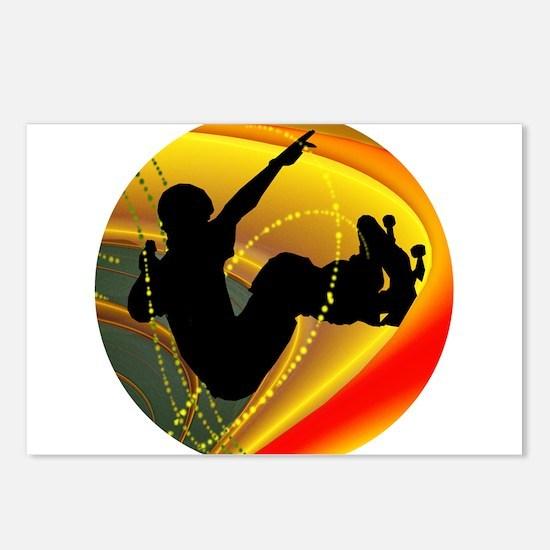 Skateboarding Silhouette Postcards (Package of 8)
