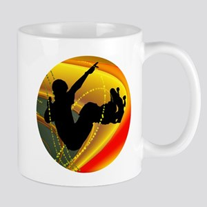 Skateboarding Silhouette in the Bowl. Mugs