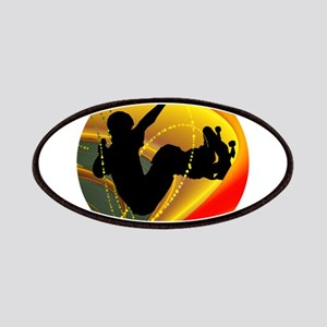 Skateboarding Silhouette in the Bowl. Patches