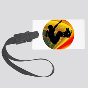 Skateboarding Silhouette in the Large Luggage Tag
