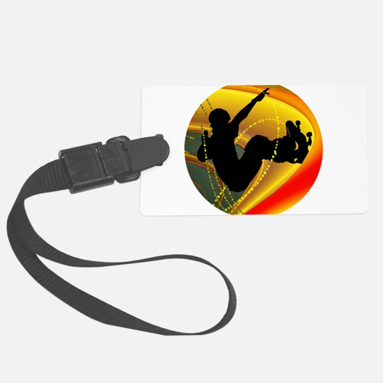 Skateboarding Silhouette in the Luggage Tag