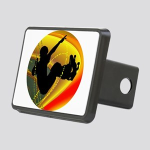 Skateboarding Silhouette i Rectangular Hitch Cover