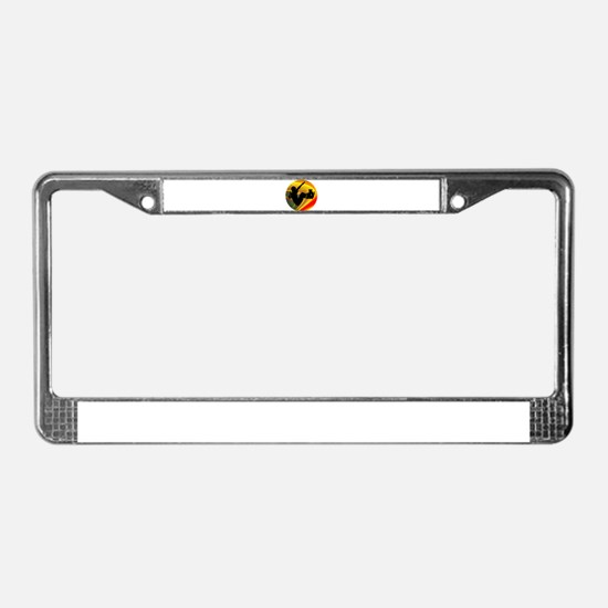 Skateboarding Silhouette in th License Plate Frame
