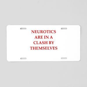 neurotic Aluminum License Plate