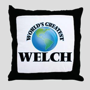 World's Greatest Welch Throw Pillow