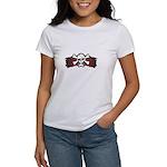 Skull & Crossbones on Red Banner Women's T-Shirt