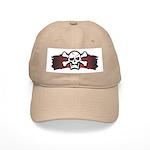 Skull & Crossbones on Red Banner Cap