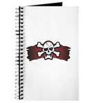 Skull & Crossbones on Red Banner Journal