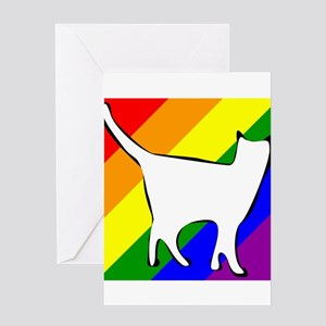LGBT Rainbow Cat Greeting Cards