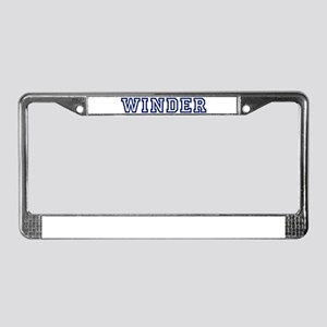 WINDER University License Plate Frame