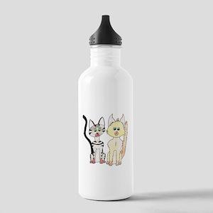 The Naughty Kittens Water Bottle