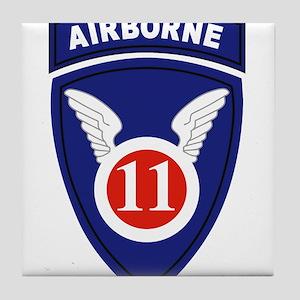 11th Airborne division Tile Coaster