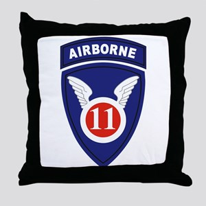 11th Airborne division Throw Pillow