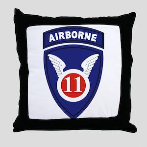 11th Airborne division Throw Pillow