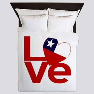 Red Chile LOVE Queen Duvet