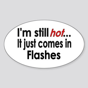 Menopause Hot Flashes Oval Sticker