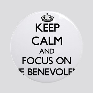 Keep Calm and focus on The Benevo Ornament (Round)