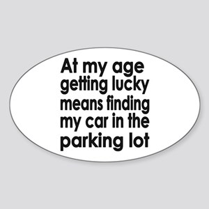 Over the Hill Getting Old Oval Sticker