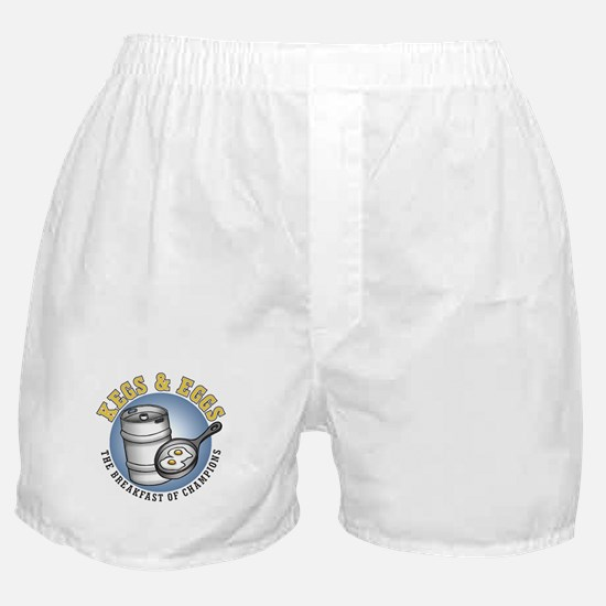 Kegs & Eggs (light shirt) Boxer Shorts