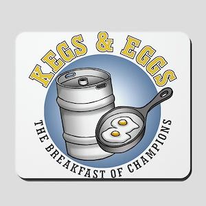 Kegs & Eggs (light shirt) Mousepad