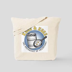 Kegs & Eggs (light shirt) Tote Bag