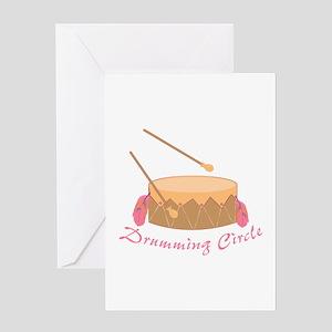 Drumming Circle Greeting Cards
