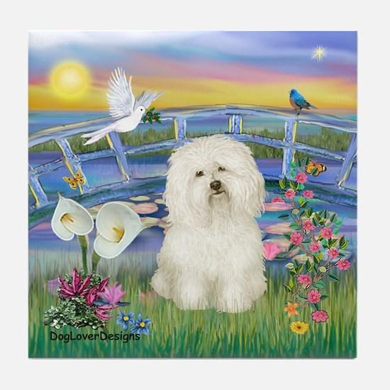 Lily Pond/Bolognese Tile Coaster