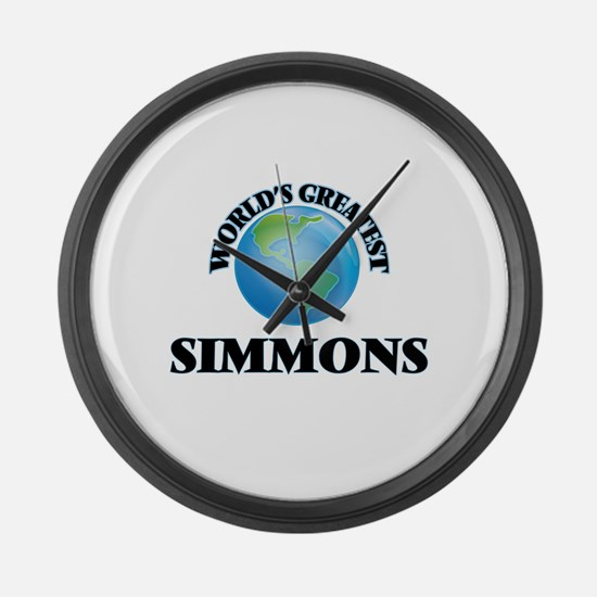 World's Greatest Simmons Large Wall Clock