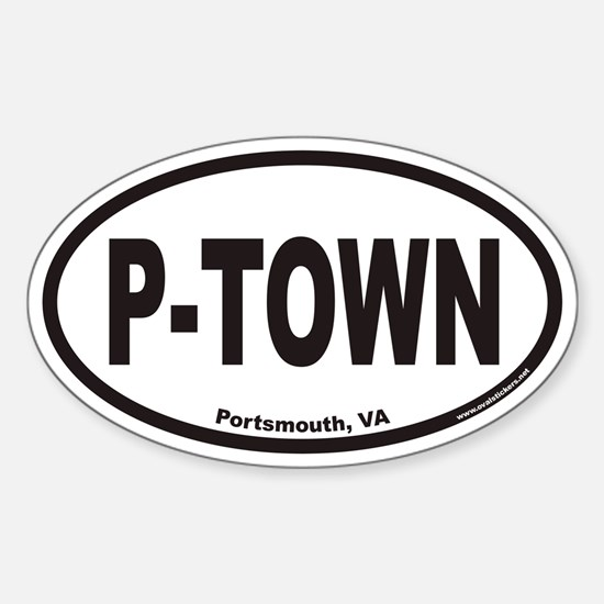 Portsmouth Virginia P-TOWN Euro Oval Decal