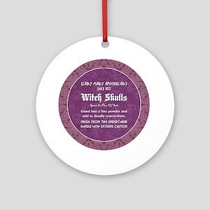 WITCH SKULLS Ornament (Round)