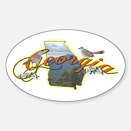 Georgia Oval Decal