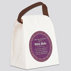 WITCH SKULLS Canvas Lunch Bag