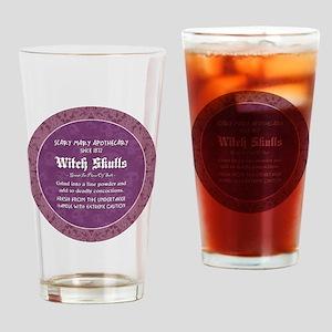 WITCH SKULLS Drinking Glass